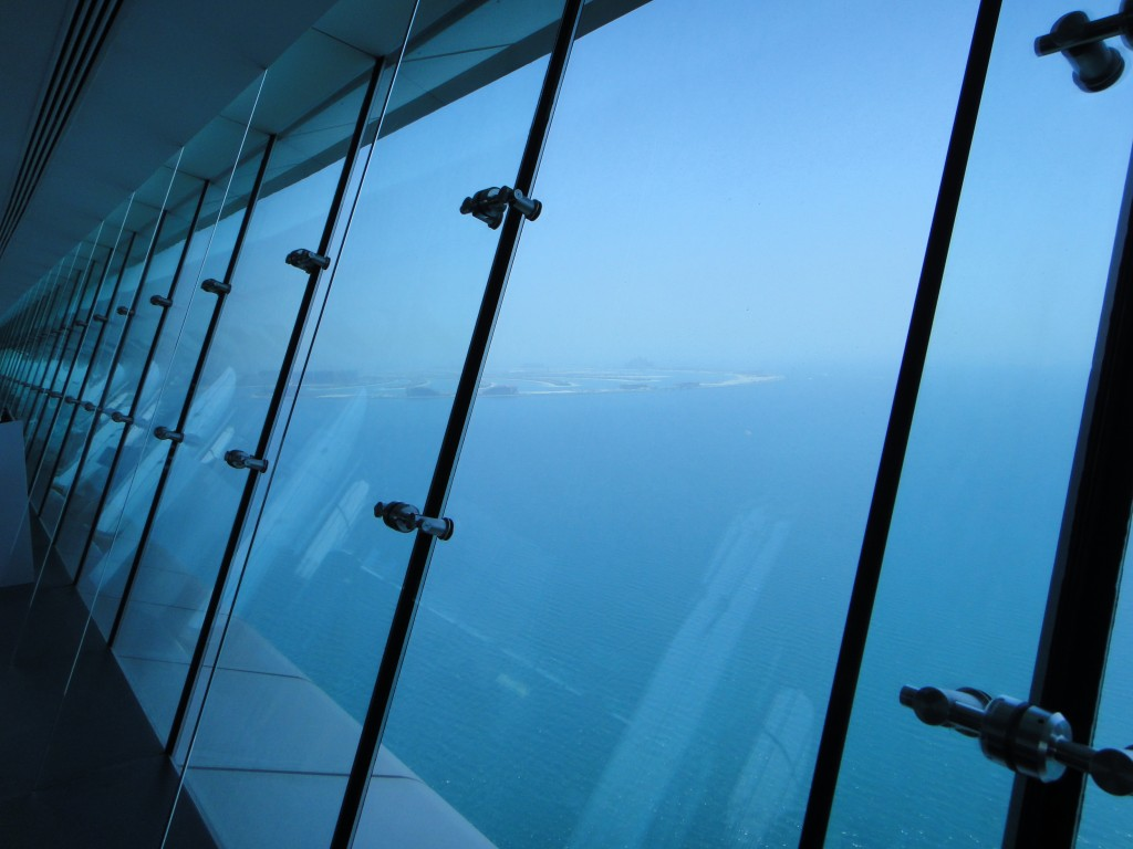 The floor-to-ceiling glass windows provided some great views.