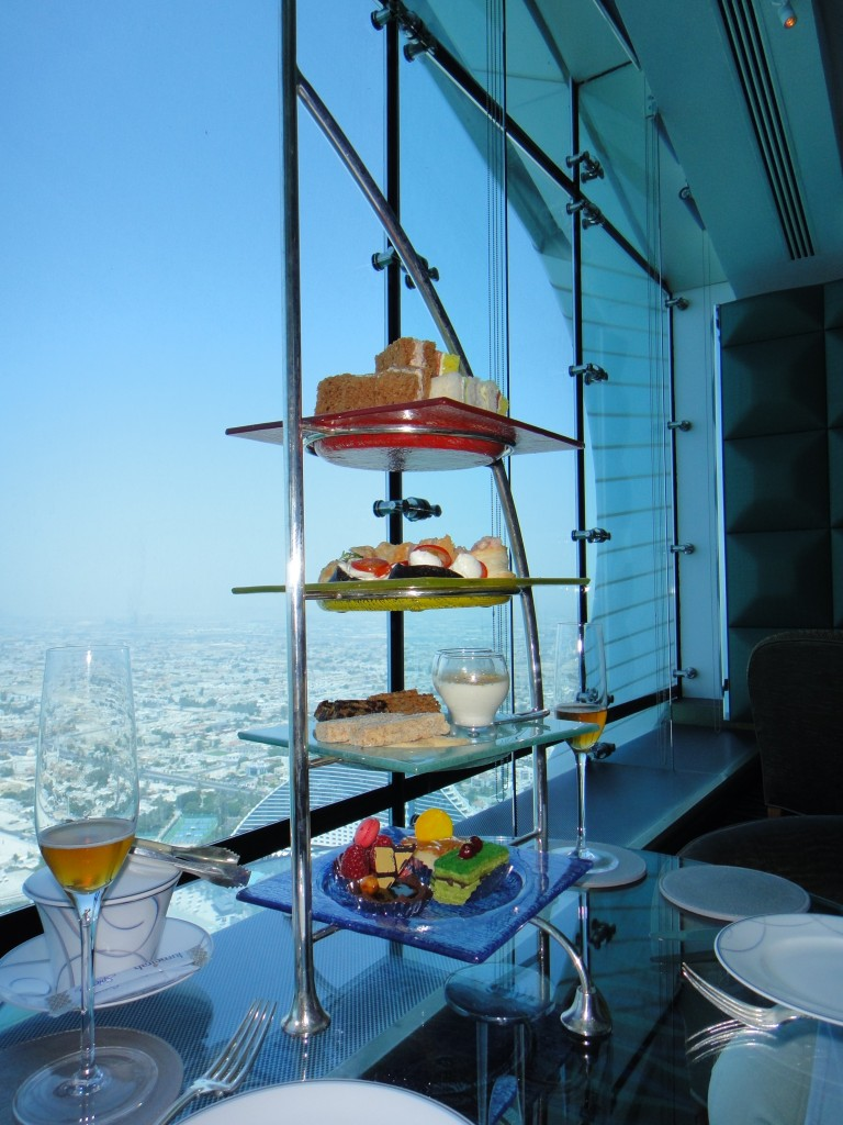 Our tower of tea snacks.