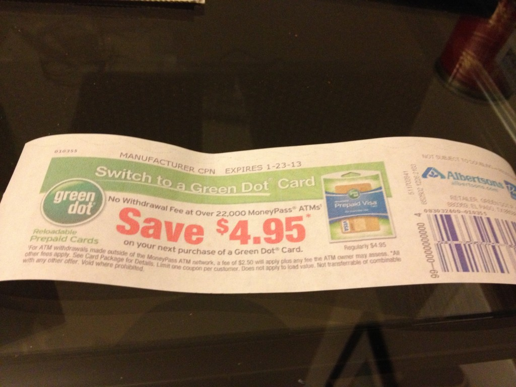 Green Dot Coupon!