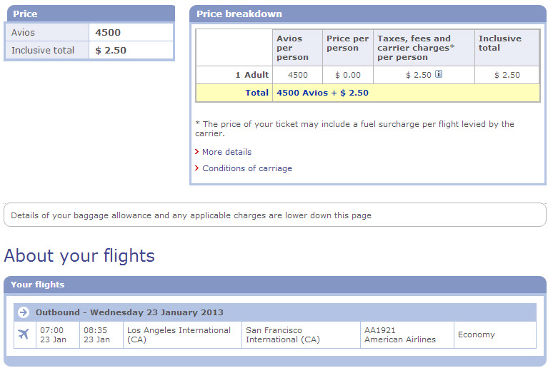 A Los Angeles to San Francisco flight is considered short-haul, and is just 4,500 points plus $2.50. This same route on United would cost 10K points. This is HUGE value!