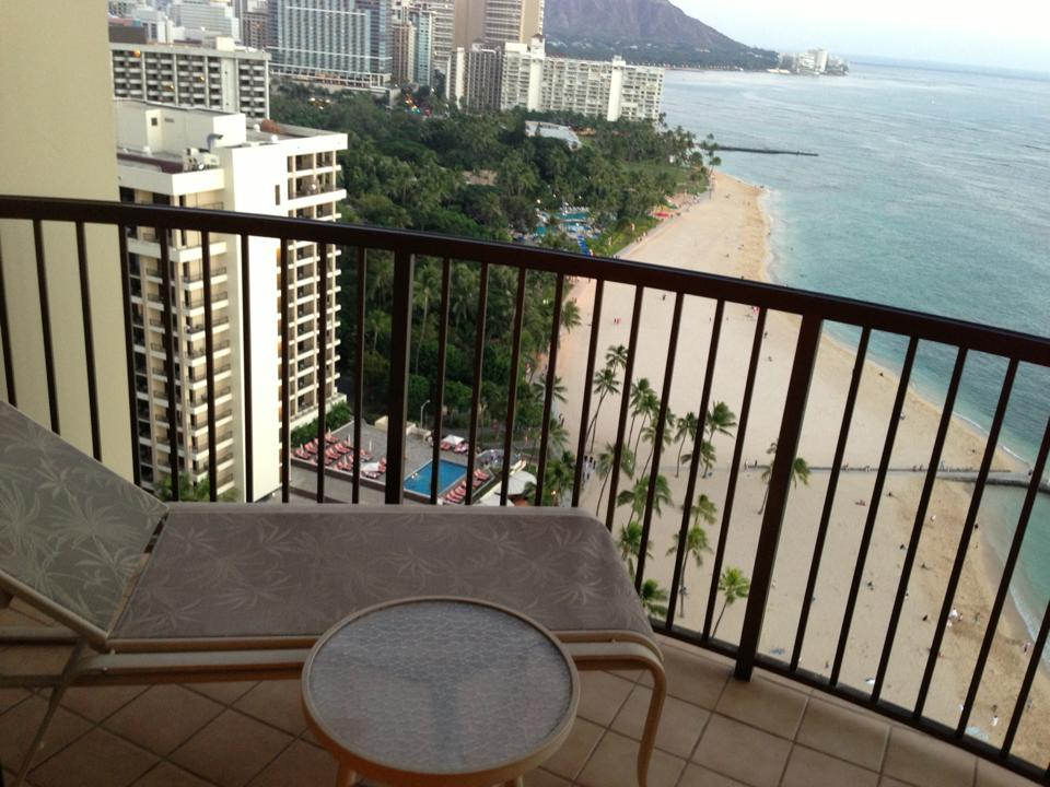 Lanai #1 -Unobstructed View of Waikiki Beach & Diamond Head.