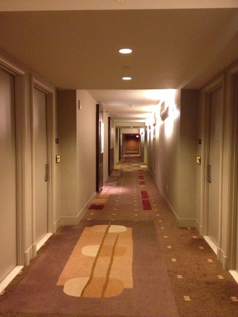 The hallway to the rooms - not nearly as long as other ones in Vegas.