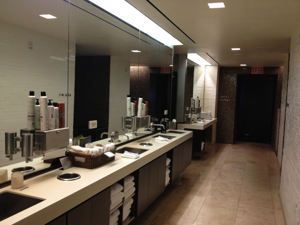 Sinks and grooming area.