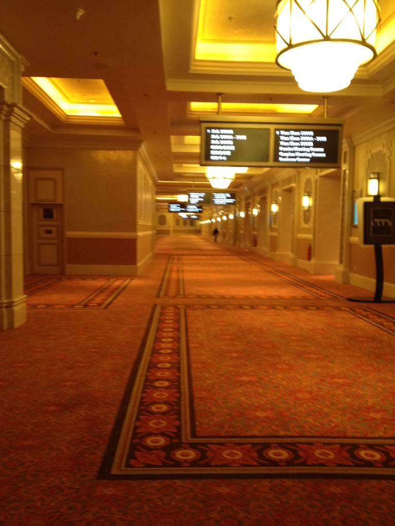 The conference area, which is on the same floor as the lounge.