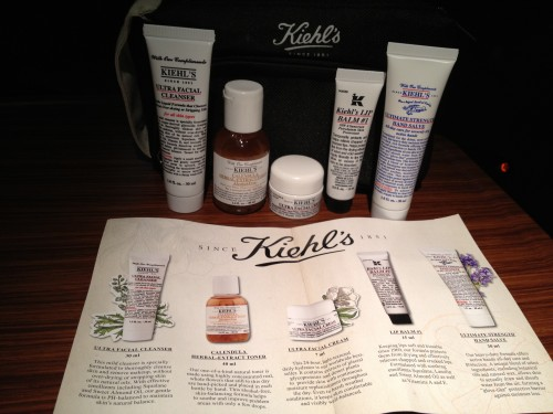 The amenity kit was from Kiehl's. Love their products!