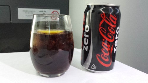 Coke Zero with lemon.