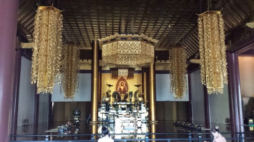 The inside of the Zojyo-ji Temple.