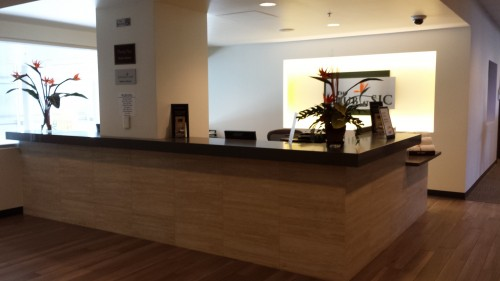 Entrance to the Club Lounge at SJC.