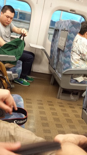 There was plenty of legroom on Shinkansen.
