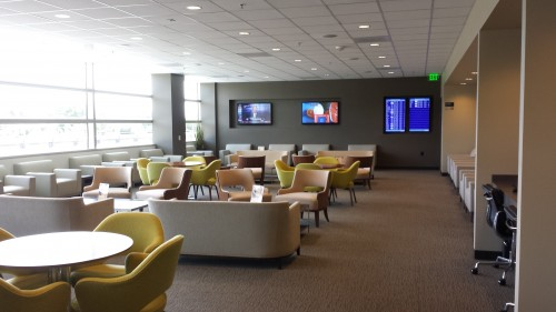 Sitting area and TVs