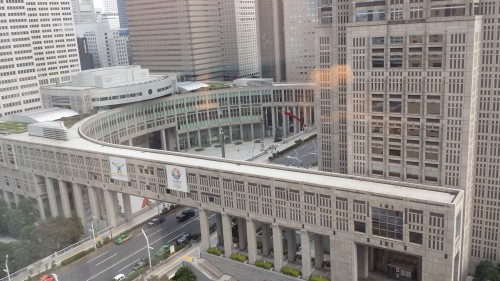 The Tokyo Metropolitan Government building was half of my view.