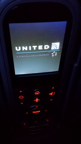 UA 787 Business Class IFE Remote