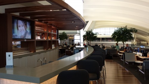 A small portion of the new Star Alliance Lounge at LAX.