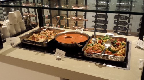 LAX Star Alliance Lounge Food 2