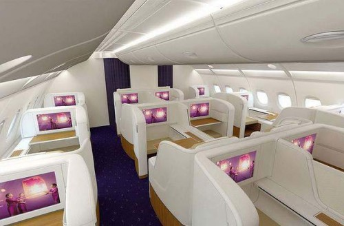 "Thai A380 First Class. It has a ""lounge"" area!"