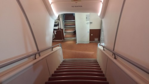 Stairs to Suites Class.