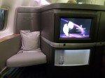 Cathay Pacific First Class TV.